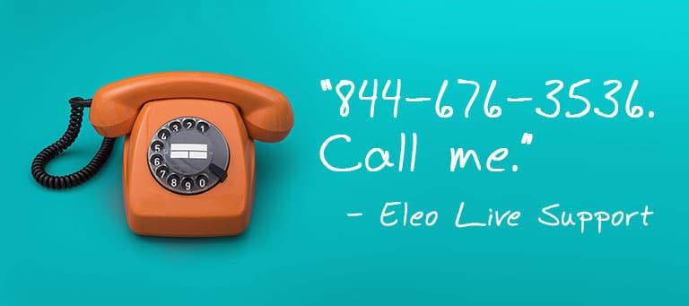 Eleo Live Phone Support for Nonprofits