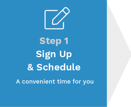 Step 1 - Sign up and schedule a convenient time for your nonprofit software demo