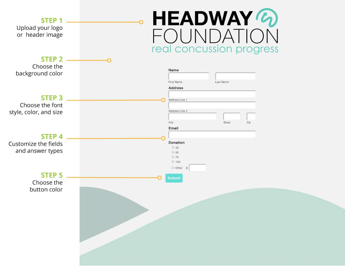 Headway Foundation Web Forms