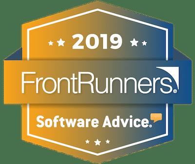 2019 FrontRunners Software Advice award logo